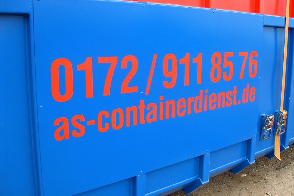 AS-Containerdienst LKW-/Containerbeschriftungen
